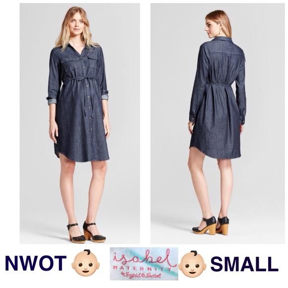 c16c1bf88eb isabel Maternity by Ingrid   Isabel Dresses   Skirts - 👶🏻NWOT Isabel SMALL  denim